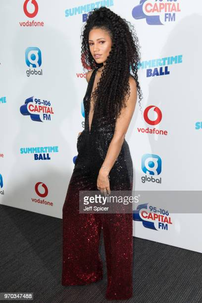 Vick Hope attends the Capital Summertime Ball 2018 at Wembley Stadium on June 9 2018 in London England