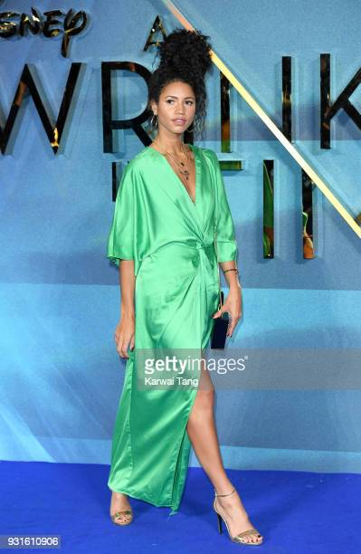 Vick Hope attends the European Premiere of 'A Wrinkle In Time' at BFI IMAX on March 13, 2018 in London, England.
