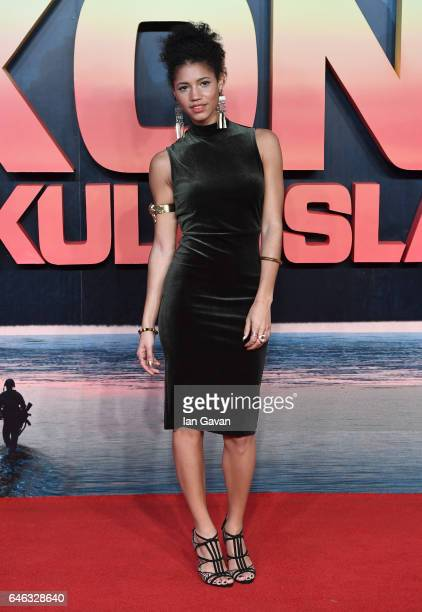 Vick Hope attends the European premiere of Kong Skull Island at the Cineworld Empire Leicester Square on February 28 2017 in London United Kingdom