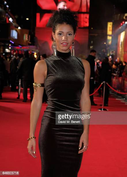 Vick Hope attends the European Premiere of 'Kong Skull Island' on February 28 2017 in London England
