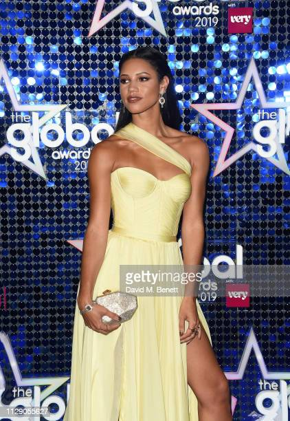 Vick Hope attends The Global Awards with Verycouk at the Eventim Apollo Hammersmith on March 7 2019 in London England