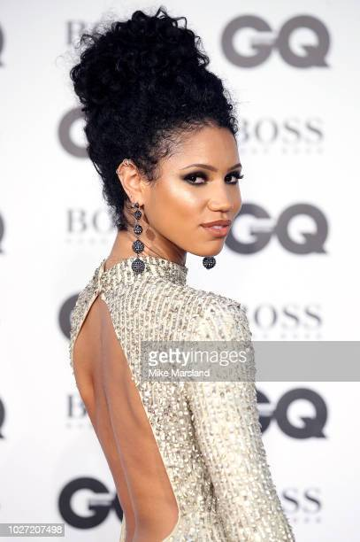 Vick Hope attends the GQ Men of the Year awards at Tate Modern on September 5, 2018 in London, England.