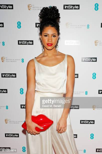 Vick Hope attends the InStyle EE Rising Star Party at Granary Square on February 6 2018 in London England
