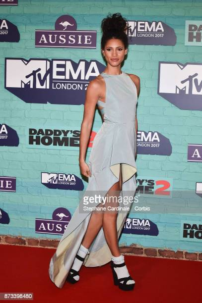 Vick Hope attends the MTV EMAs 2017 at The SSE Arena Wembley on November 12 2017 in London England