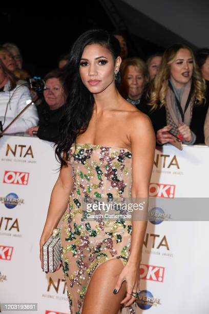 Vick Hope attends the National Television Awards 2020 at The O2 Arena on January 28 2020 in London England