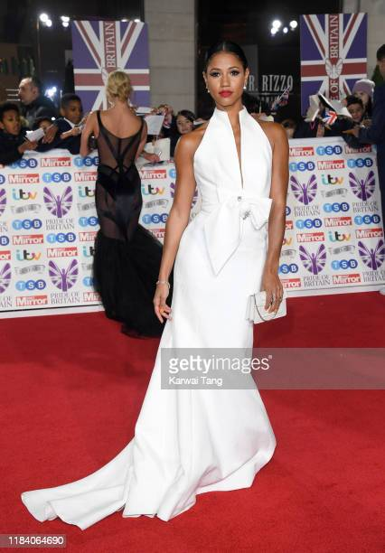 Vick Hope attends the Pride Of Britain Awards 2019 at The Grosvenor House Hotel on October 28 2019 in London England
