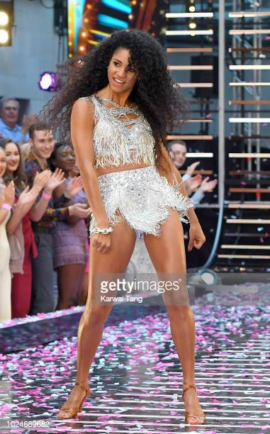 Vick Hope attends the red carpet launch for 'Strictly Come Dancing 2018' at Old Broadcasting House on August 27, 2018 in London, England.