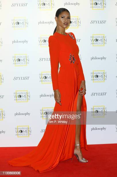 Vick Hope attends the Remarkable Women Awards at Rosewood London on March 05 2019 in London England