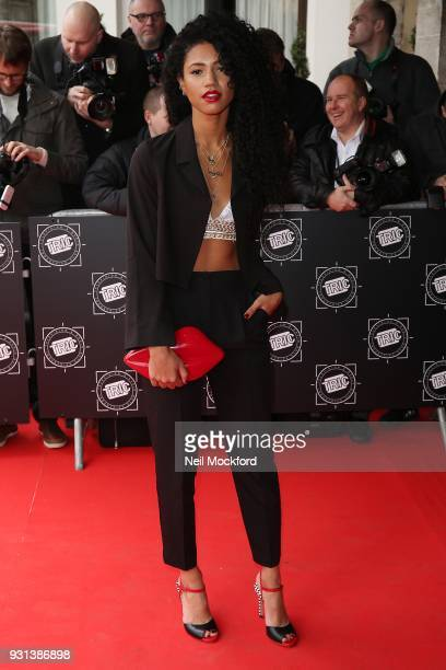 Vick Hope attends the TRIC Awards 2018 held at The Grosvenor House Hotel on March 13 2018 in London England