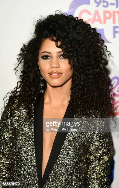 Vick Hope during day one of Capital's Jingle Bell Ball 2017 at the O2 Arena London