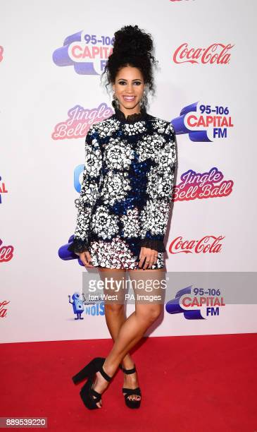 Vick Hope during day two of Capital's Jingle Bell Ball 2017 at the O2 Arena London