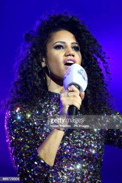 Vick Hope on stage during day two of Capital's Jingle Bell Ball with CocaCola at London's O2 Arena PRESS ASSOCIATION Photo Picture date Sunday...