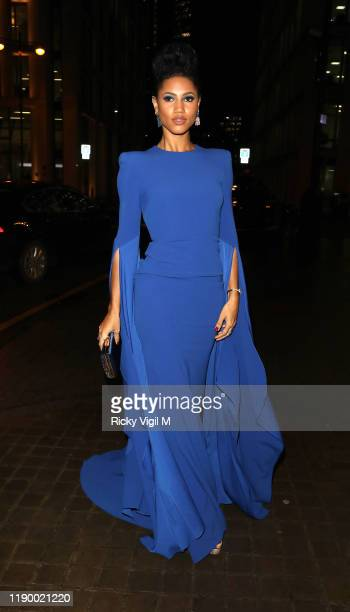 Vick Hope seen attending Global's Make Some Noise Night Gala at Finsbury Square on November 25, 2019 in London, England.