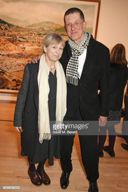 Vicken Parsons and Antony Gormley attend the reopening of The Hayward Gallery featuring the first major UK retrospective of the work of German...