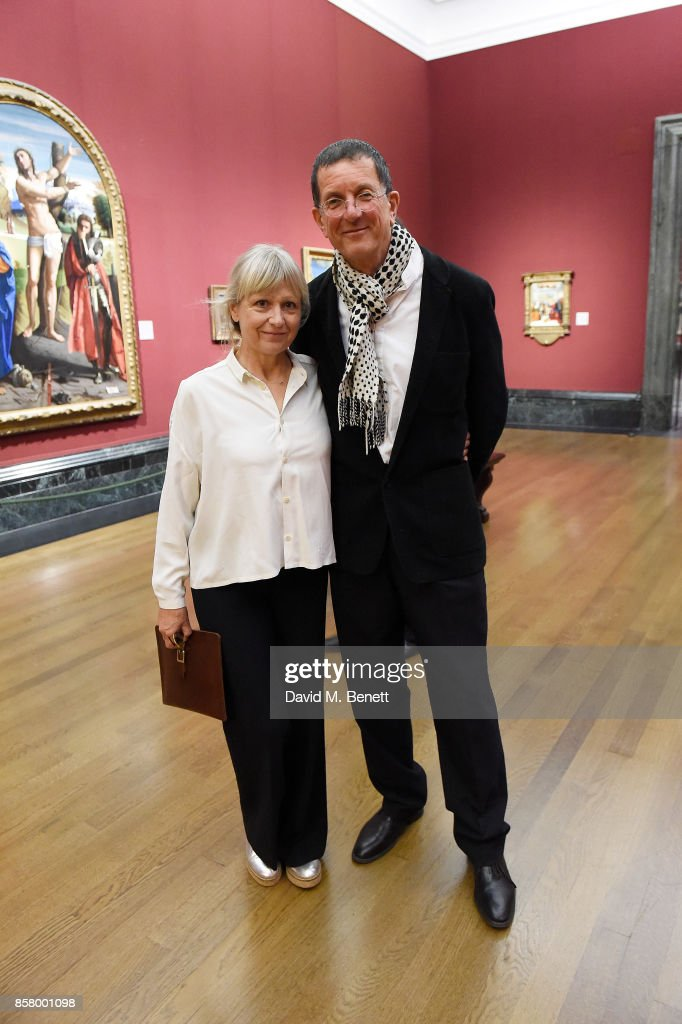 Vicken Parsons and Sir Antony Gormley attends 'Unexpected View' co-hosted by the National Gallery and Galerie Thaddaeus Ropac on the occasion of Frieze 2017 at The National Gallery on October 5, 2017 in London, England.