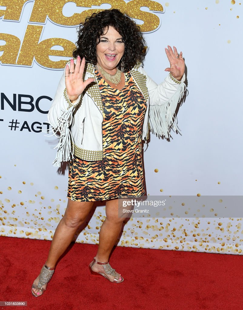 Vicki Barbolak arrvies at the Americas Got Talent