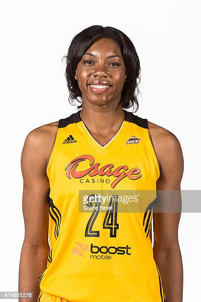 Vicki Baugh of the Tulsa Shock poses for a portrait during Media Day on May 26 2015 at the BOK Center in Tulsa Oklahoma NOTE TO USER User expressly...