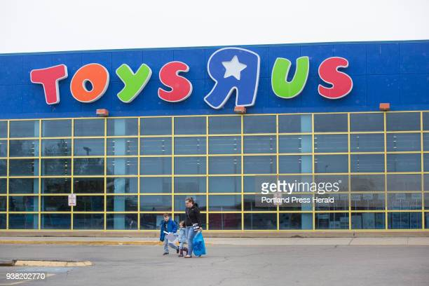 Vicki Brackley of Sabattus leaves Toys R Us on Thursday March 22 with her children Declan and Sage 3 She said they drove down to the South Portland...