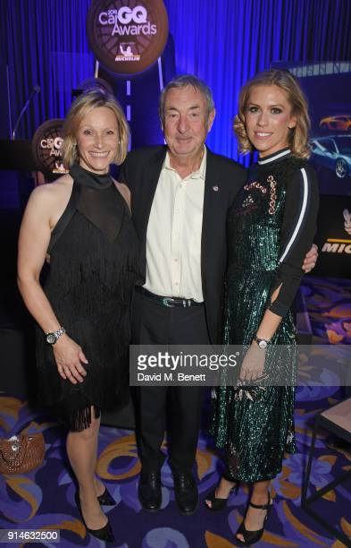 Vicki ButlerHenderson Nick Mason and Nicki Shields attend the GQ Car Awards 2018 in association with Michelin at Corinthia London on February 5 2018...