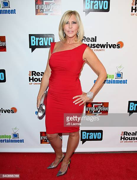 Vicki Gunvalson attends the premiere party for Bravo's 'The Real Housewives of Orange County' 10 Year Celebration at Boulevard3 on June 16 2016 in...