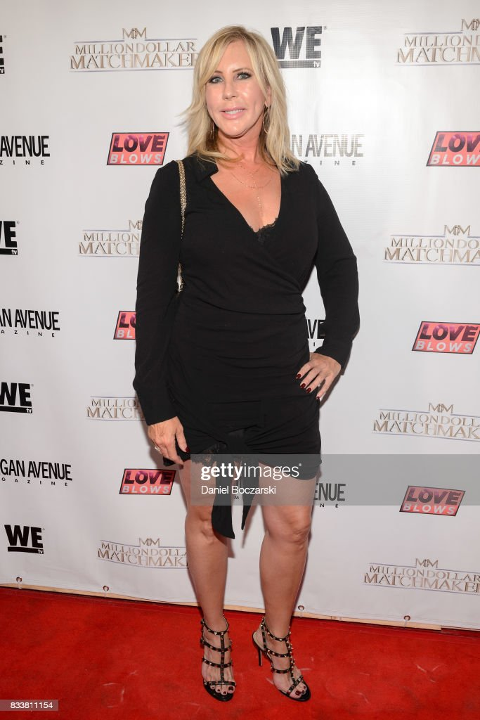 Vicki Gunvalson attends WE tv's LOVE BLOWS Premiere Event at Flamingo Rum Club on August 16, 2017 in Chicago, Illinois.