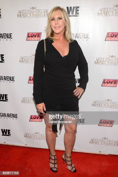 Vicki Gunvalson attends WE tv's LOVE BLOWS Premiere Event at Flamingo Rum Club on August 16 2017 in Chicago Illinois
