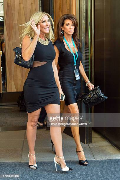 Vicki Gunvalson is seen departing the Jacob Javits Center on May 14 2015 in New York City