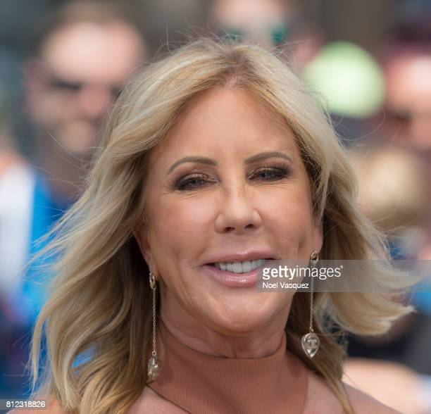 Vicki Gunvalson visits Extra at Universal Studios Hollywood on July 10 2017 in Universal City California