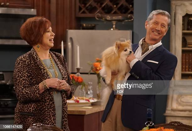 """Vicki Lawrence and guest star Charles Shaughnessy in the """"Thanksgiving at Murray's"""" episode of THE COOL KIDS airing Friday, Nov. 16 on FOX."""