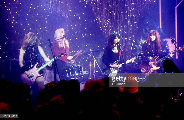 Vicki Peterson Debbi Peterson Susanna Hoffs and Michael Steele of The Bangles