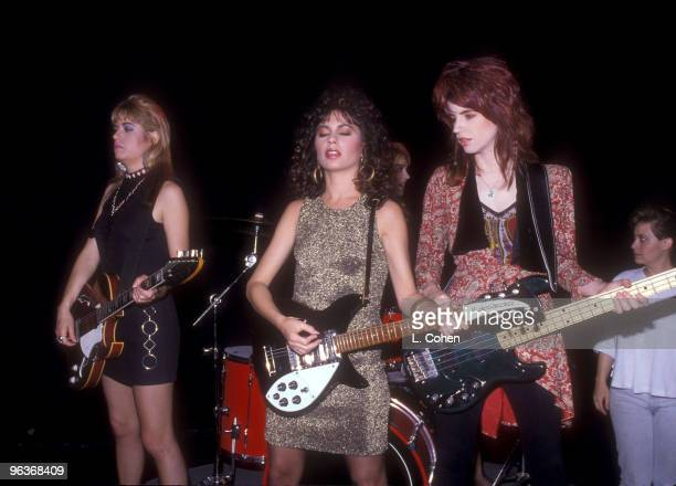 Vicki Peterson Susanna Hoffs and Michael Steele of The Bangles