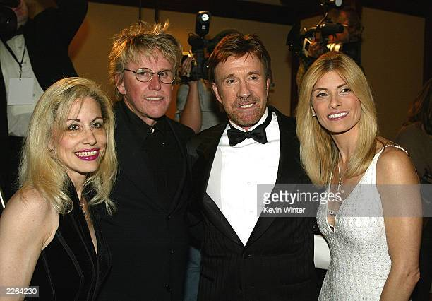 Vicki Roberts Gary Busey Chuck Norris and wife Gena at To Protect and To Serve benefiting the Los Angeles Police Protective League's Eagle and Badge...
