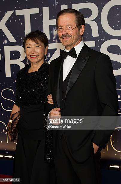 Vicki Sato and Lewis Cantley attend the Breakthrough Prize Awards Ceremony Hosted By Seth MacFarlane at NASA Ames Research Center on November 9 2014...