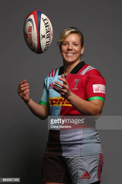 Vickii Cornborough poses for a portrait during the Harlequins Ladies Squad Photo call for the 2017/18 Tyrrells Premier 15s Season at Surrey Sports...