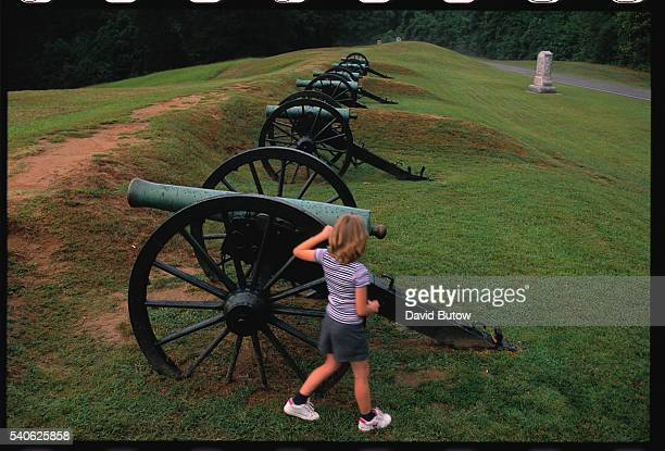 Vicksburg Mississippi National Park at a Civil War battle site where much of the battle for the town took place