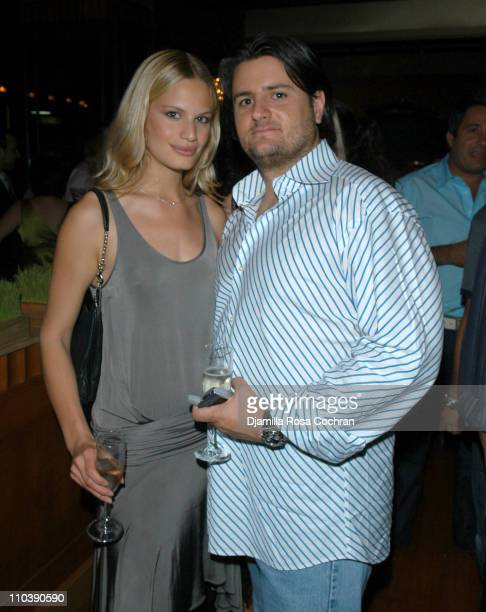 Vicky Andren and Aram Sabet during Opening of Marc Packer's Bolzano's at Bolzano's in New York City New York United States