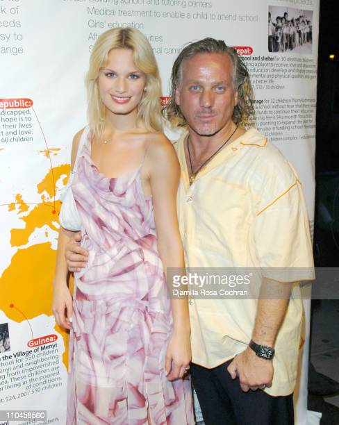 Vicky Andren and Mark Baker during Sunflower Children of India's Fashion and Philanthropy Benefit to Support Tsunami Orphans of India at PM Lounge in...