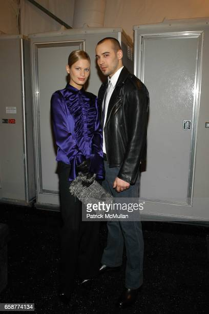 Vicky Andren and Michael Krisher attend the Ron Chereskin Fashion Show at Atelier Bryant Park on February 6 2004 in New York City