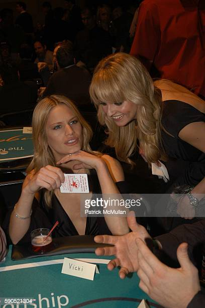 Vicky Andren and Nadia attend Lotus and Borgata Hotel Casino Host First Annual NYC Poker Championship at Lotus on January 18 2005 in New York City