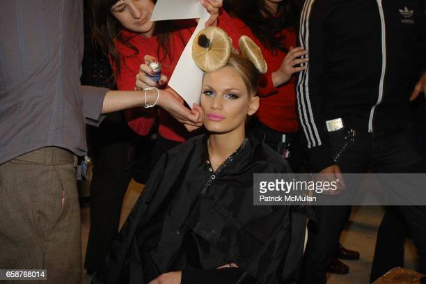 Vicky Andren attends HEATHERETTE Fashion Show at the MAO Space on February 12 2004 in New York City