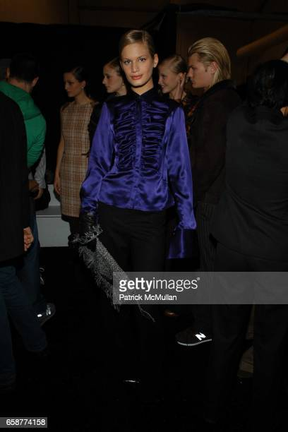 Vicky Andren attends the Ron Chereskin Fashion Show at Atelier Bryant Park on February 6 2004 in New York City