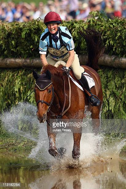 Vicky Brake riding Looks Like Fun competes in the cross country stage during day three of the Badminton Horse Trials on April 24, 2011 in Badminton,...