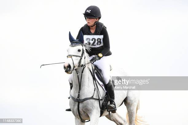 Vicky Brown-Cole rides Cutting Edge in the CCI 3* Young Rider during the National Three Day Event Championships on May 11, 2019 in Taupo, New Zealand.
