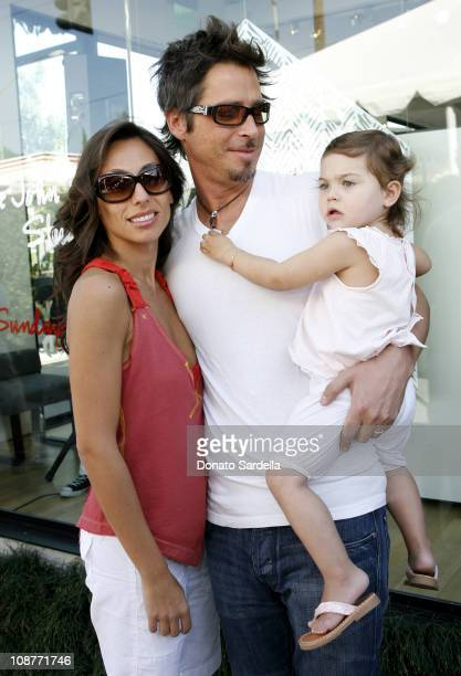Vicky Cornell Chris Cornell and daughter during 5th Annual John Varvatos Stuart House Benefit Presented by Converse at John Varvatos Boutique in Los...