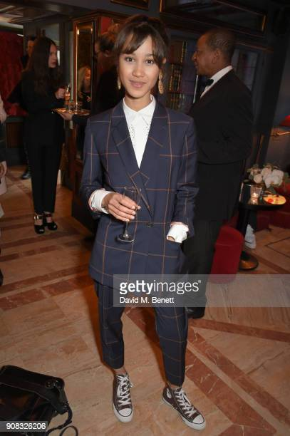 Vicky Fen O'Meally wearing Paul Smith attends the Paul Smith Malgosia Bela AW18 Lunch on January 21 2018 in Paris France