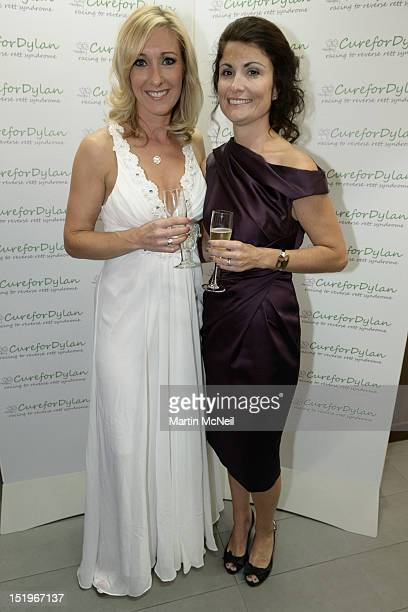 Vicky Gomersall and guest attend a charity evening in aid of 'Cure for Dylan' at Stamford Bridge on September 13 2012 in London England