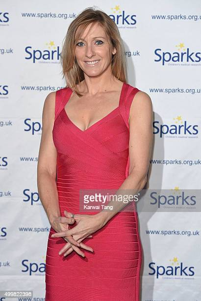 Vicky Gomersall attends the Sparks Winter Ball at Old Billingsgate Market on December 3 2015 in London England