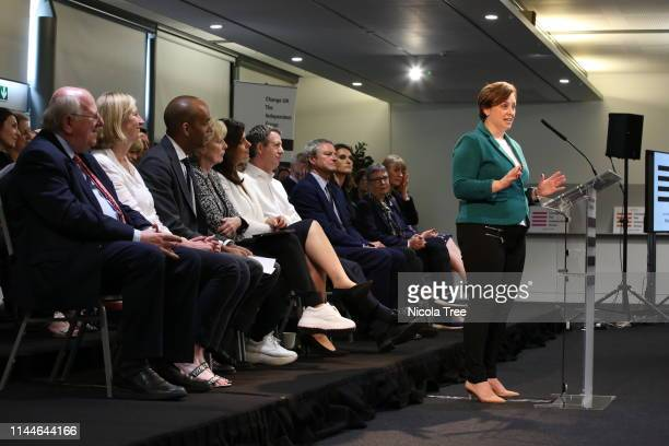Vicky Groulef at the launch of Change UK The Independent Group European election campaign at We The Curious on April 23 2019 in Bristol England With...