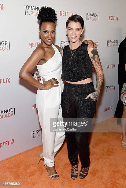 Vicky Jeudy and Ruby Rose attend the Orangecon Fan Event at Skylight Clarkson SQ on June 11 2015 in New York City