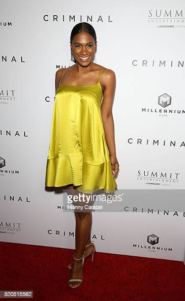 Vicky Jeudy attends the New York Premiere of 'CRIMINAL' at AMC Loews Lincoln Square 13 theater on April 11 2016 in New York City